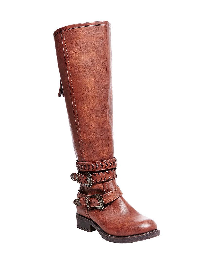 Madden Girl Tan Riding Boots