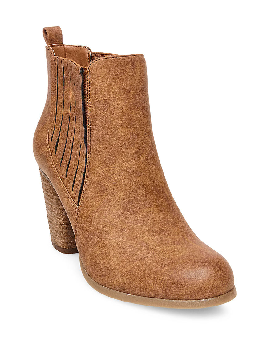 Madden Girl Cognac Ankle Boots & Booties