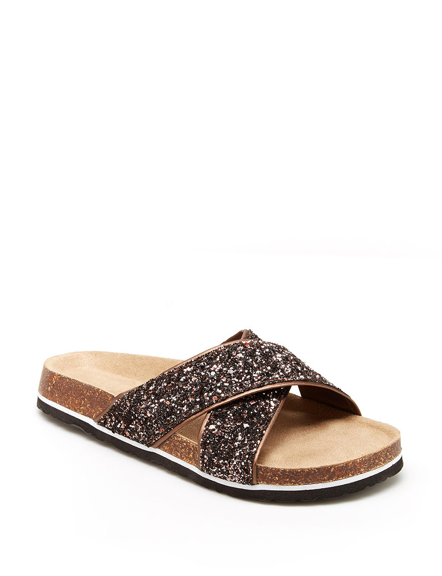 JBU Champagne Flat Sandals