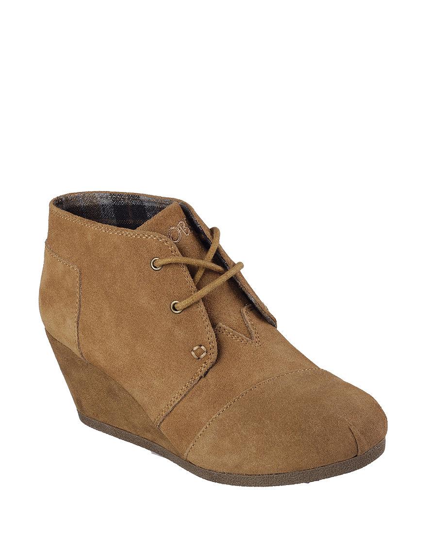 Skechers Chestnut Wedge Boots