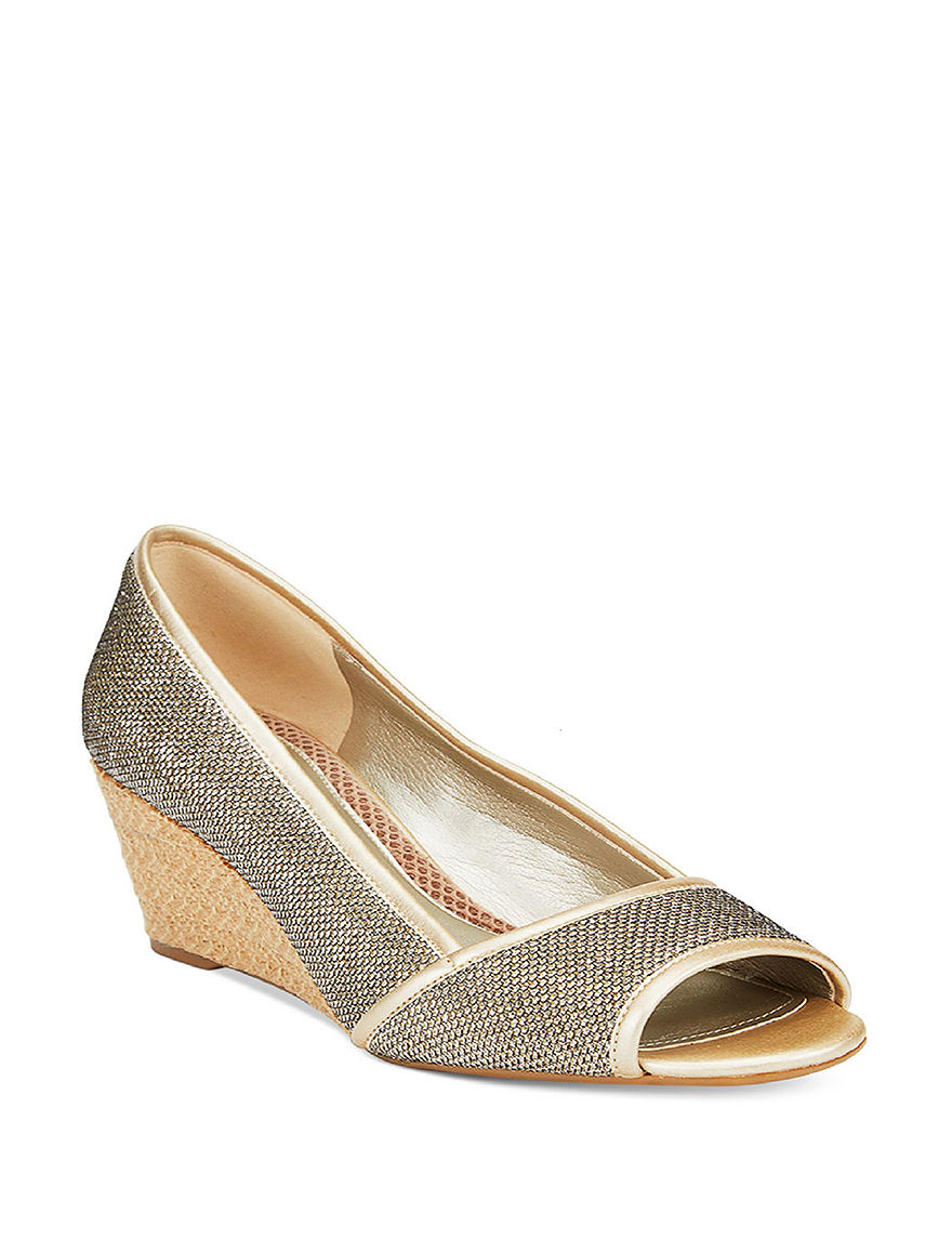 Easy Spirit Gold Wedge Pumps