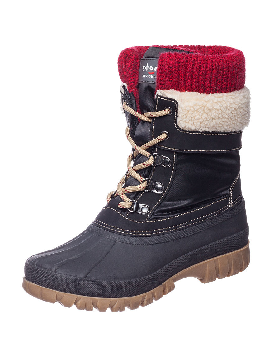 Cougar Black / Red Ankle Boots & Booties