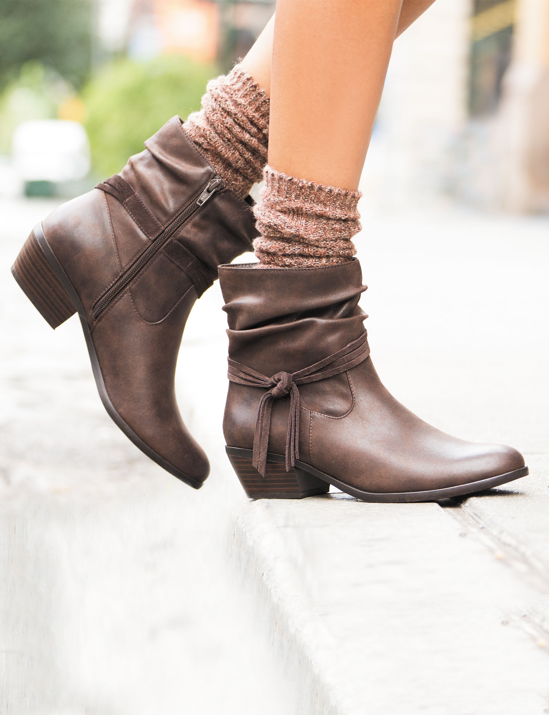 Wear. Ever. Dark Brown Ankle Boots & Booties