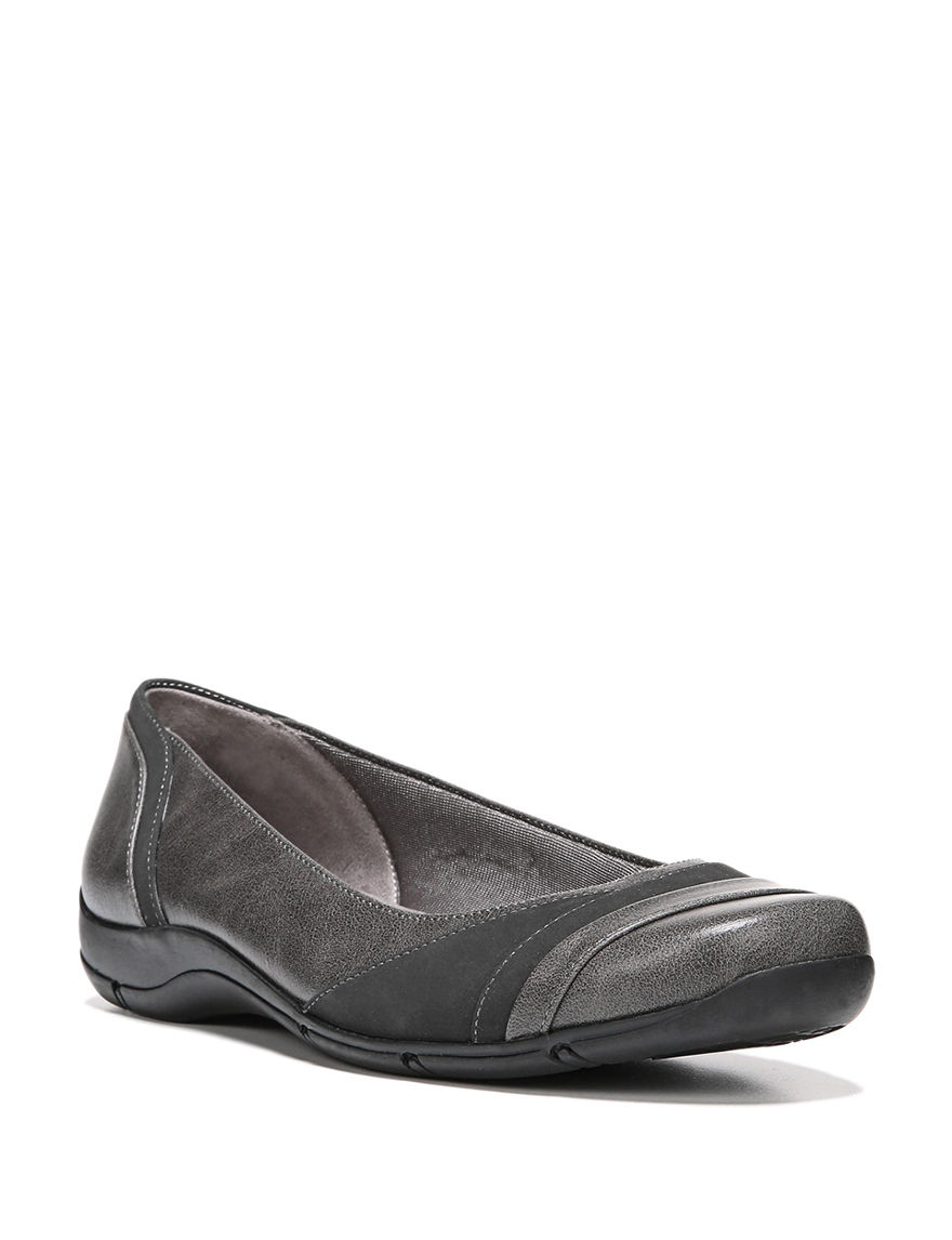 Lifestride Black/Black Croco Comfort Shoes