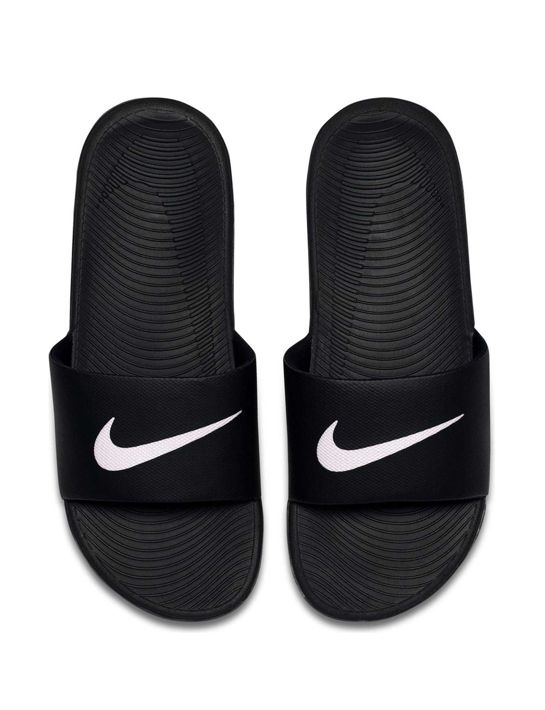 3c36204b4e71 ... Grey UPC 887224436569 product image for Nike Men s Kawa Slide Sandals -  Black   White - 7
