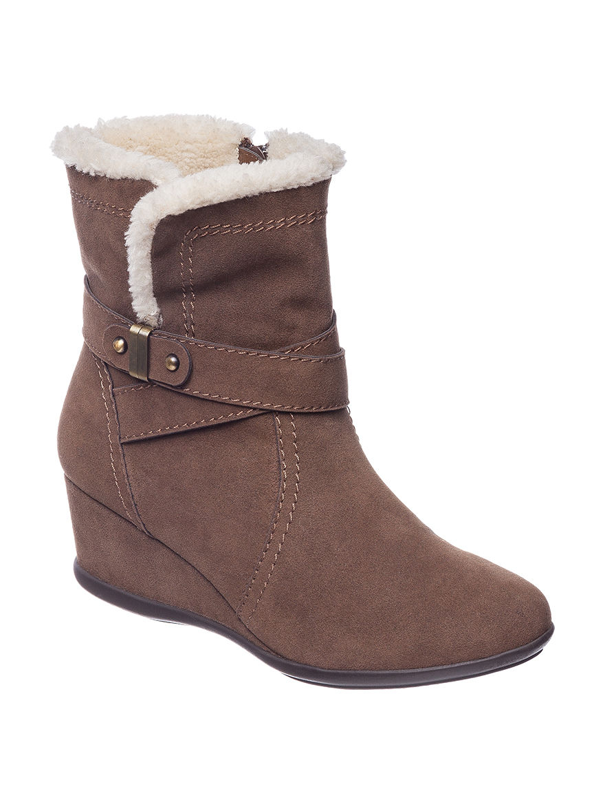 Valerie Stevens Brown Ankle Boots & Booties Wedge Boots