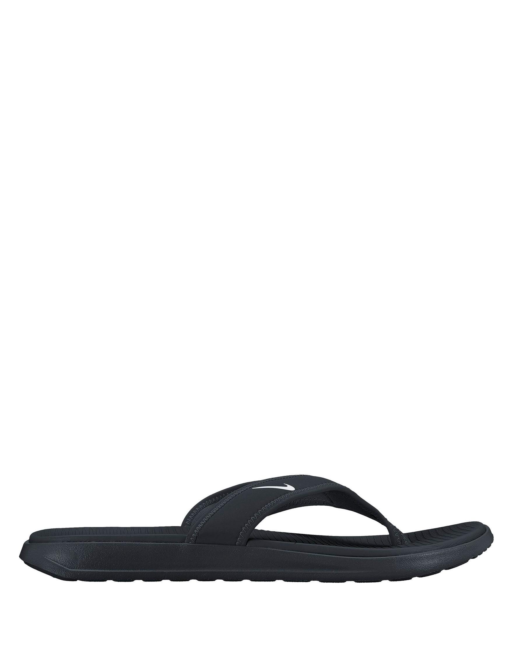 Nike Black / White Flip Flops