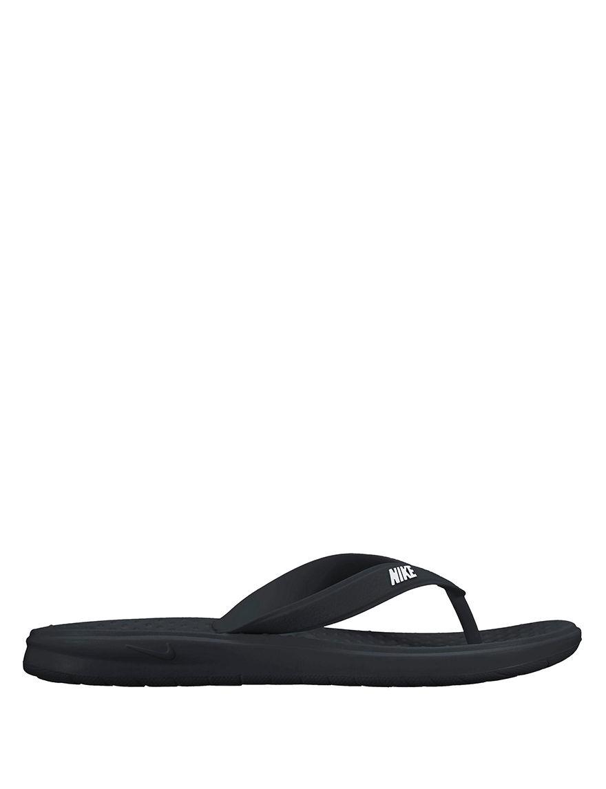 Nike Black Flip Flops Sport Sandals