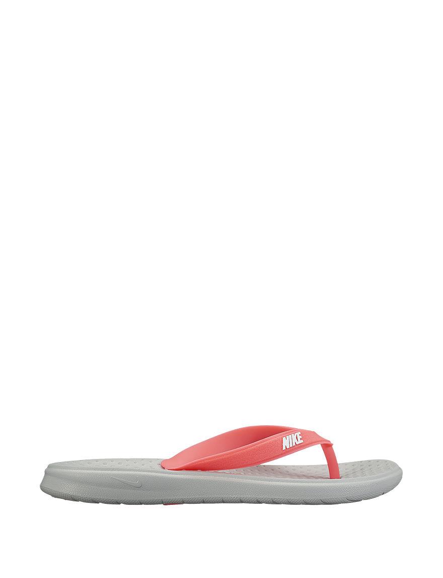 Nike Grey Flip Flops