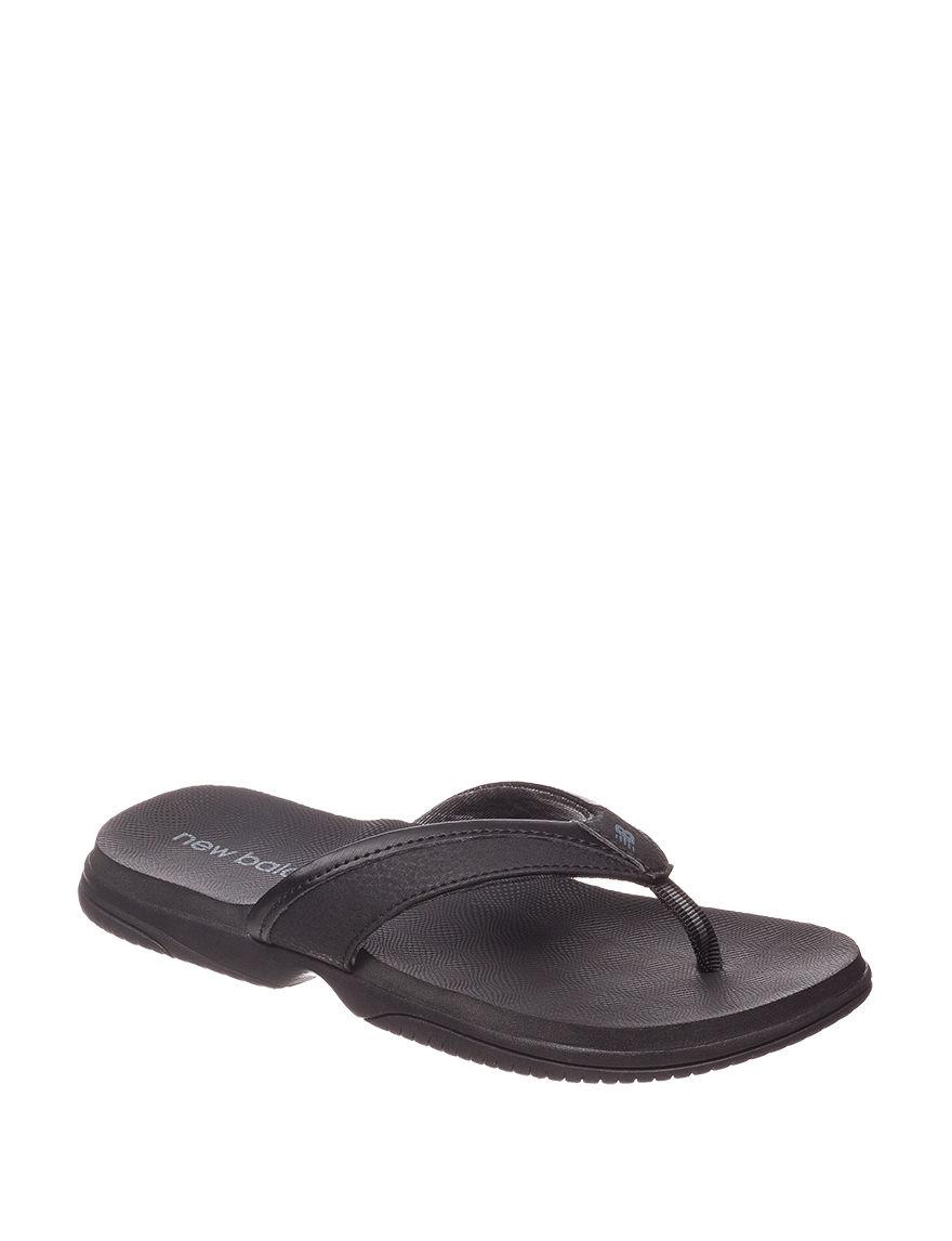 New Balance Black Flip Flops Sport Sandals
