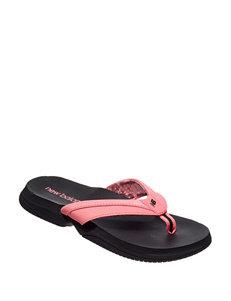 a08a25eb7 New Balance Pink   Black Flip Flops Sport Sandals