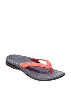 cc4d30de7f2 New Balance Black   Pink Flip Flops Sport Sandals
