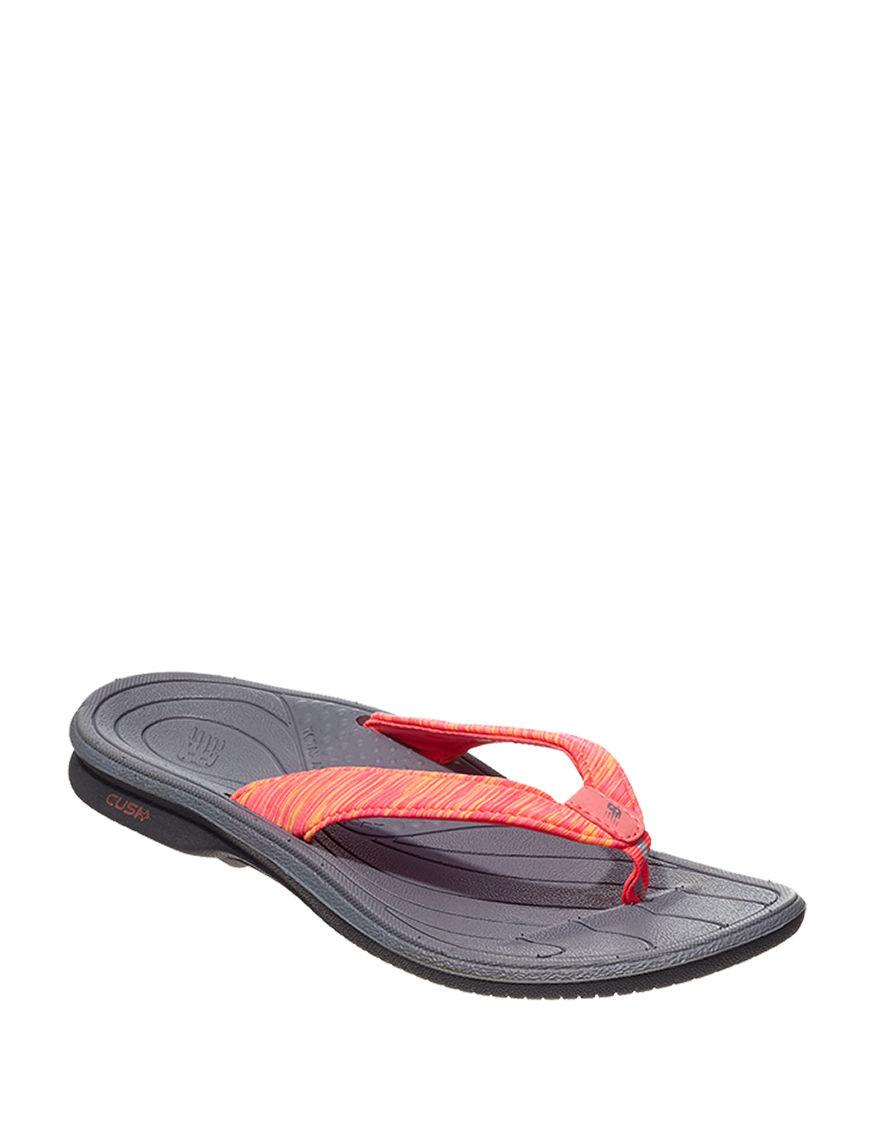 New Balance Black / Pink Flip Flops Sport Sandals