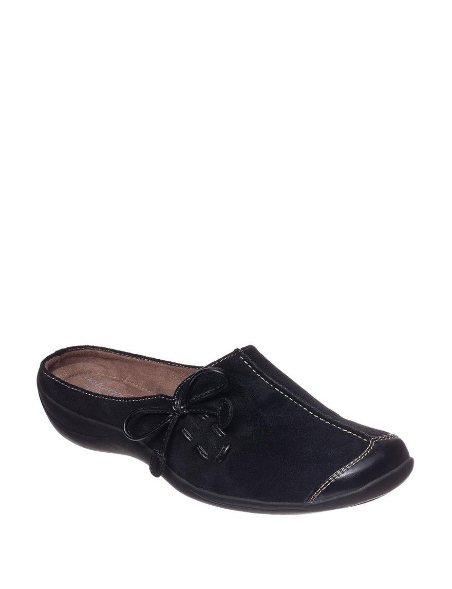 Natural Soul Black Clogs Comfort Shoes