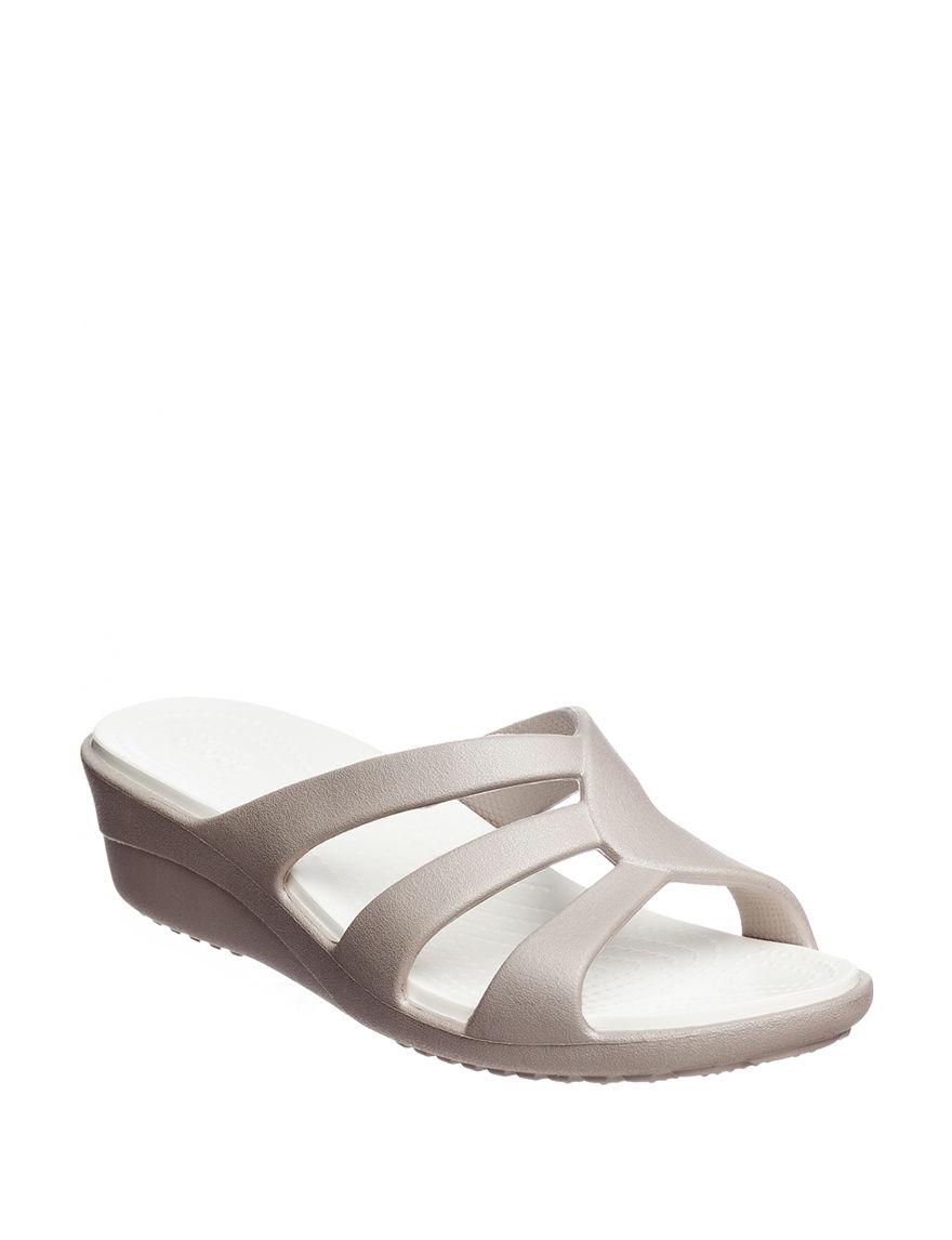 Crocs Platinum Wedge Sandals Comfort