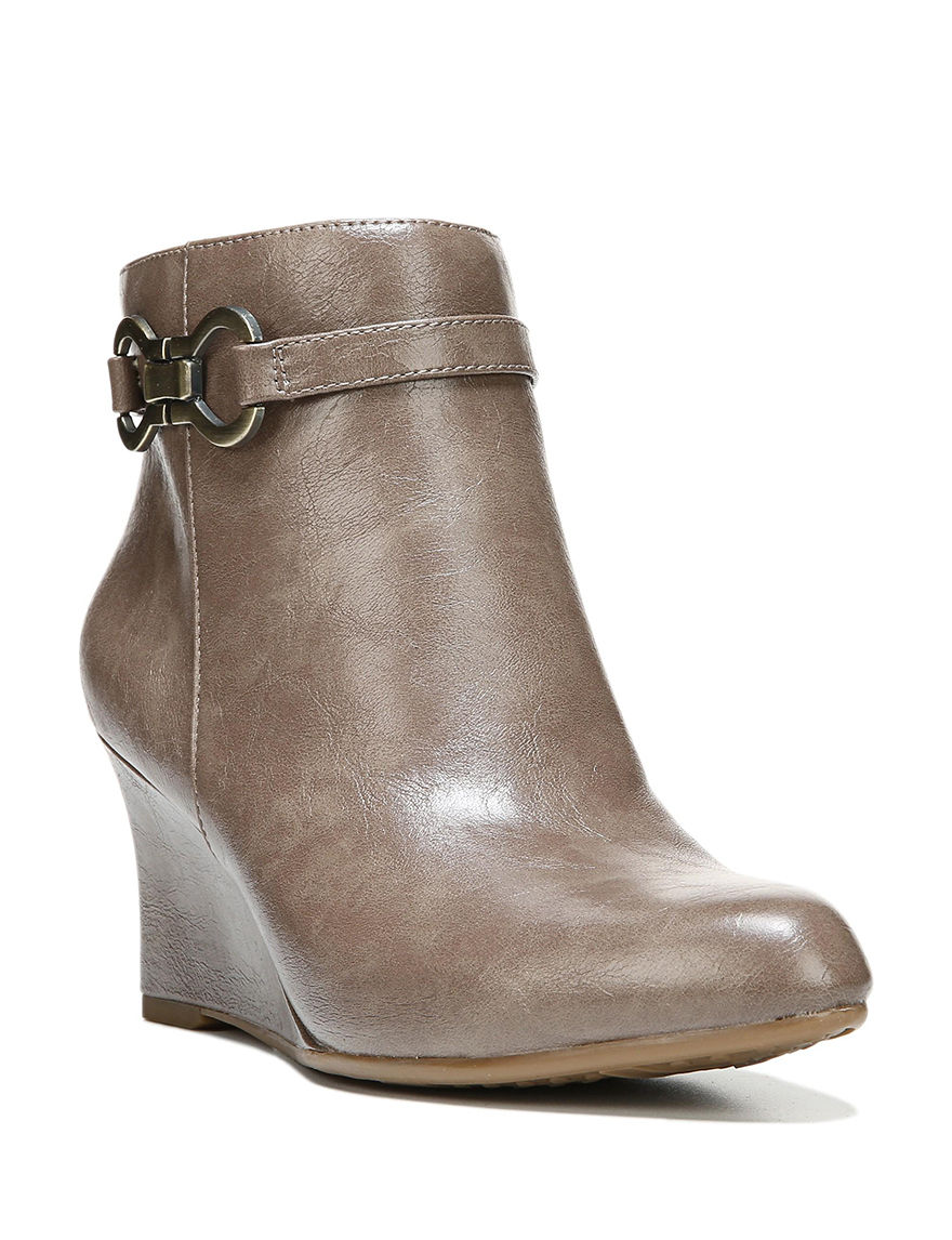 Lifestride Taupe Wedge Boots