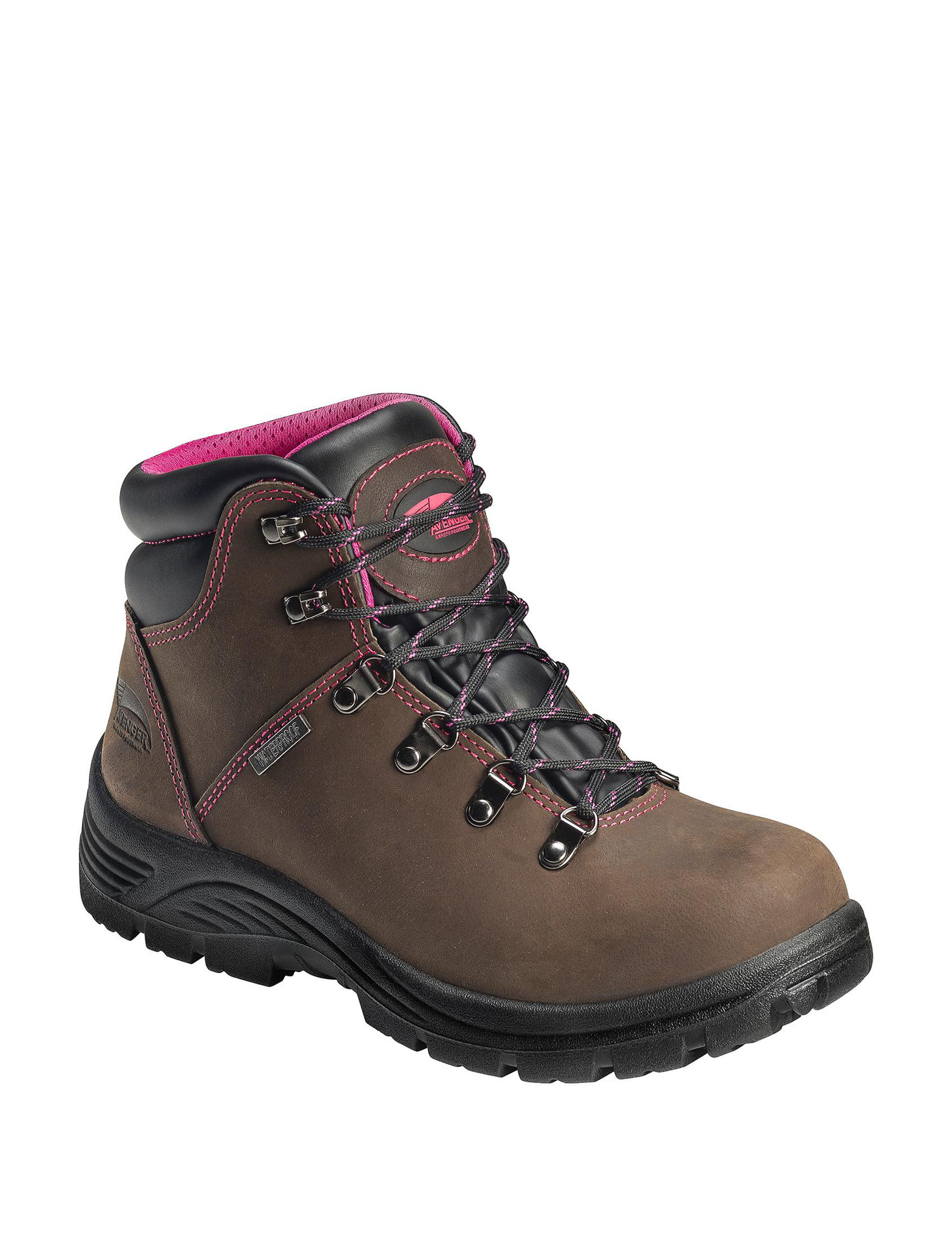 Avenger Brown Steel Toe Waterproof