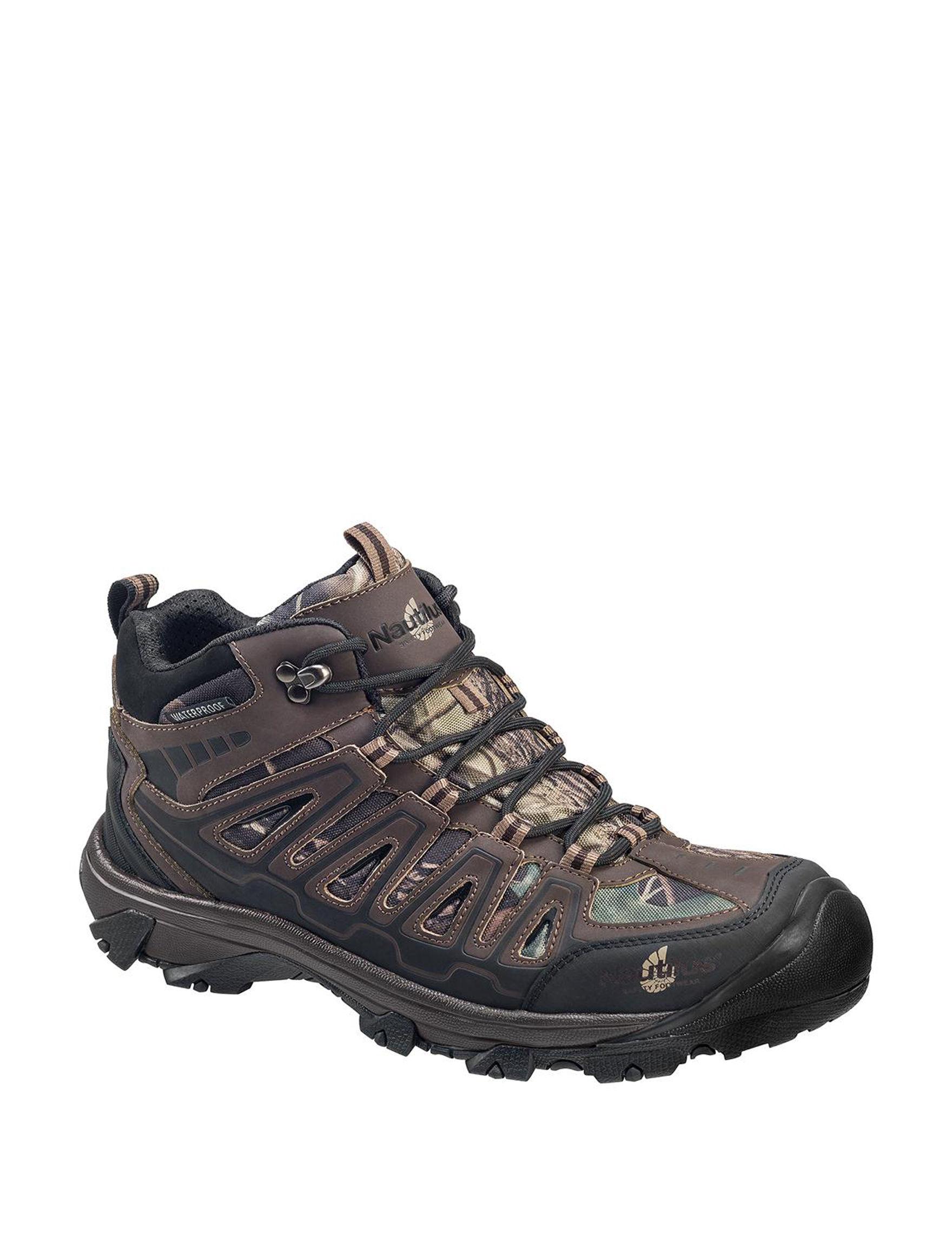Nautilus Brown Slip Resistant Steel Toe Waterproof