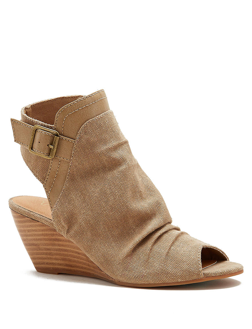 Sugar Natural Ankle Boots & Booties Wedge Sandals