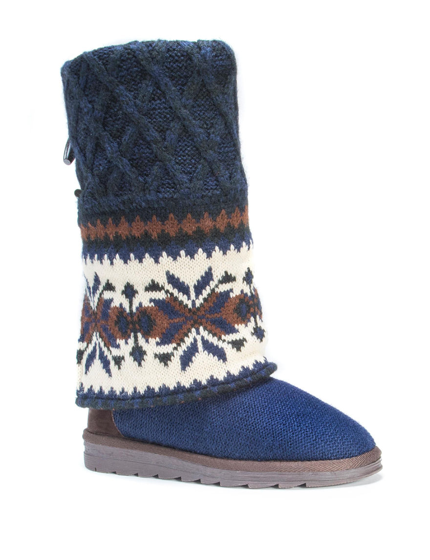 Muk Luks Dark Blue Winter Boots