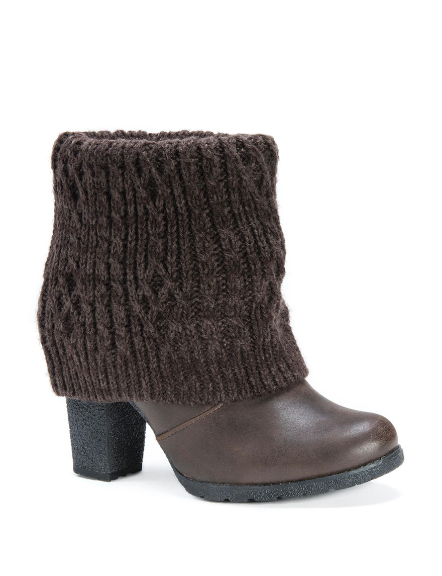 Muk Luks Brown Ankle Boots & Booties
