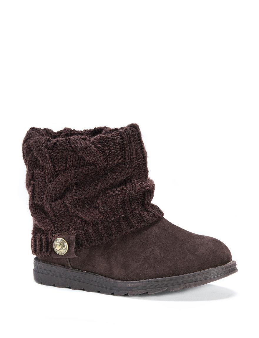 Muk Luks Brown Winter Boots