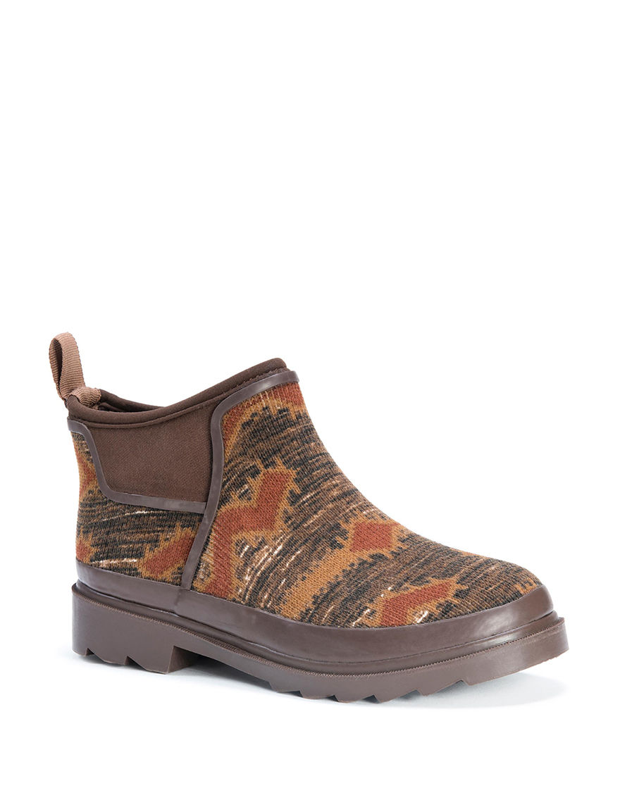 Muk Luks Brown Rain Boots