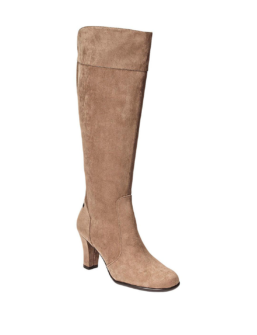 A2 by Aerosoles Taupe Riding Boots Comfort