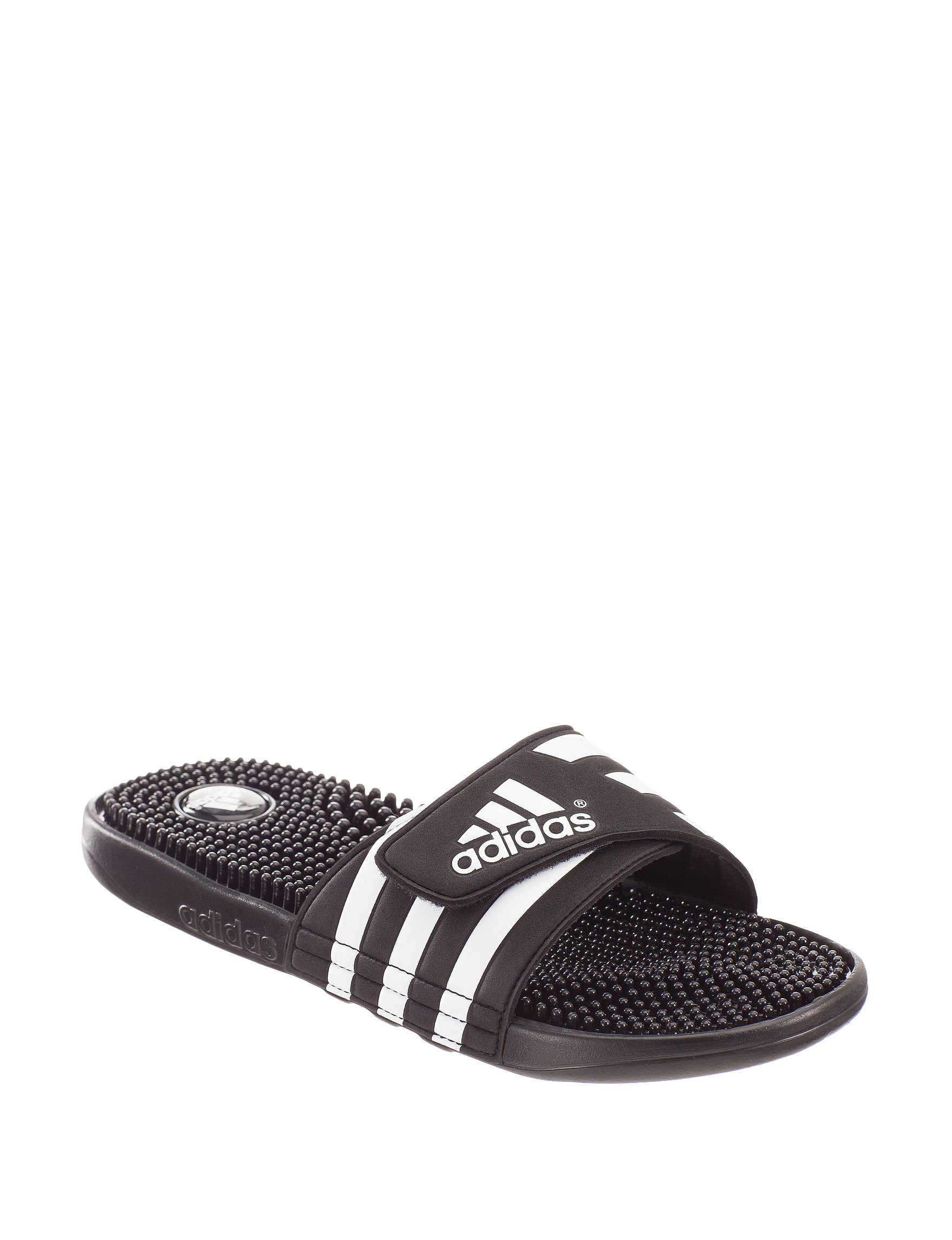 Adidas Black / White Slide Sandals