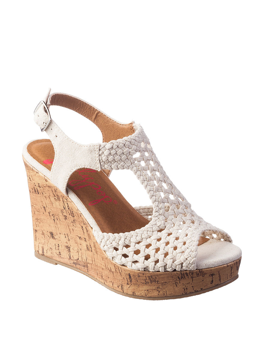 Jellypop Natural Wedge Sandals