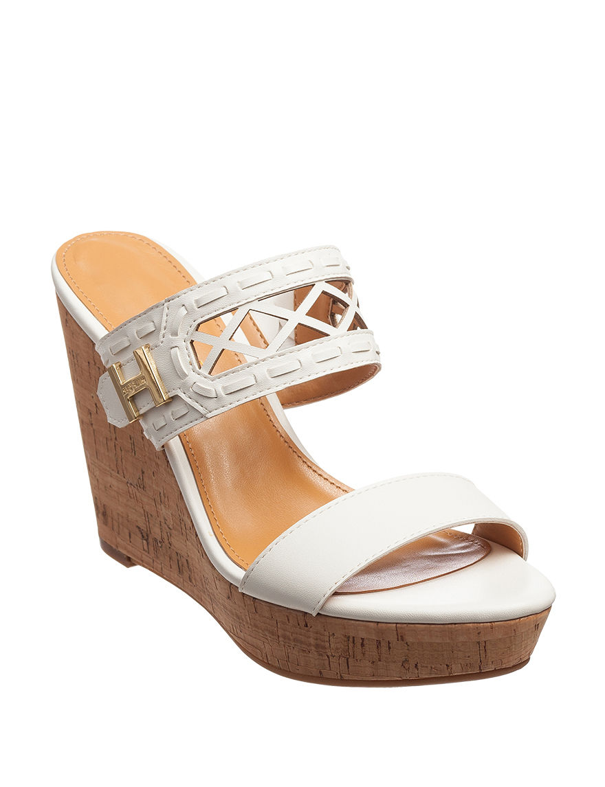 Tommy Hilfiger White Wedge Sandals