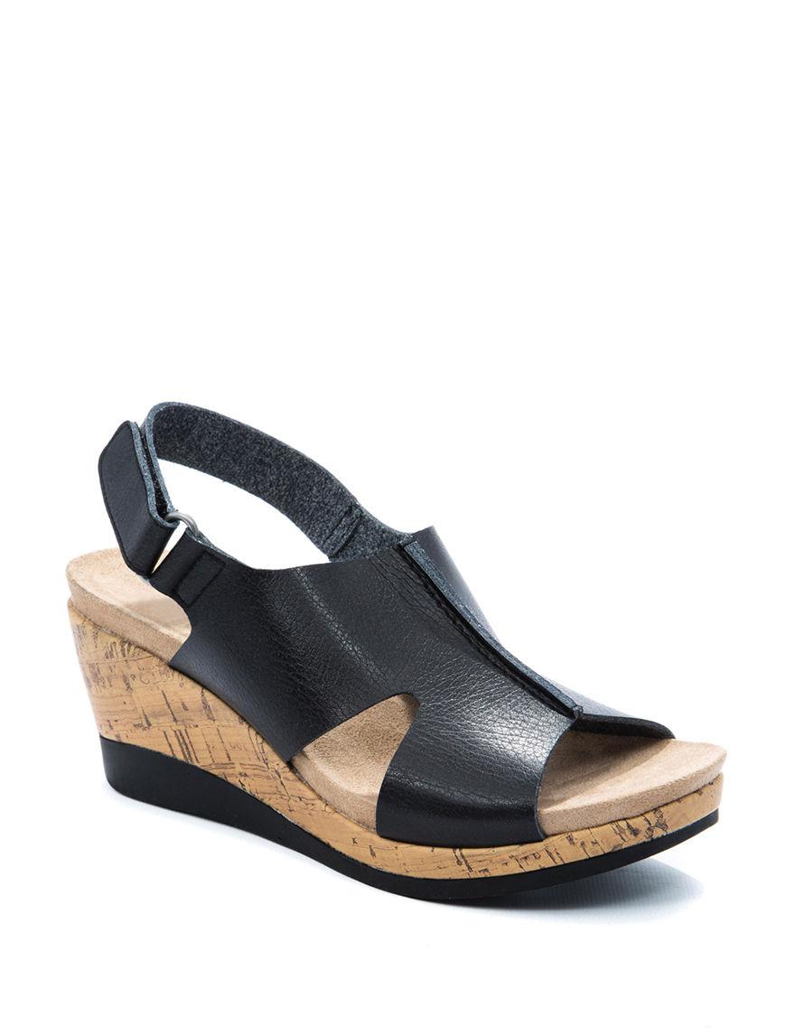 Wear. Ever. Black Wedge Sandals Comfort