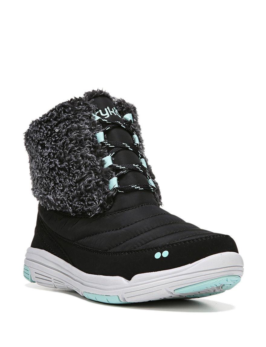 Ryka Black / Green Winter Boots
