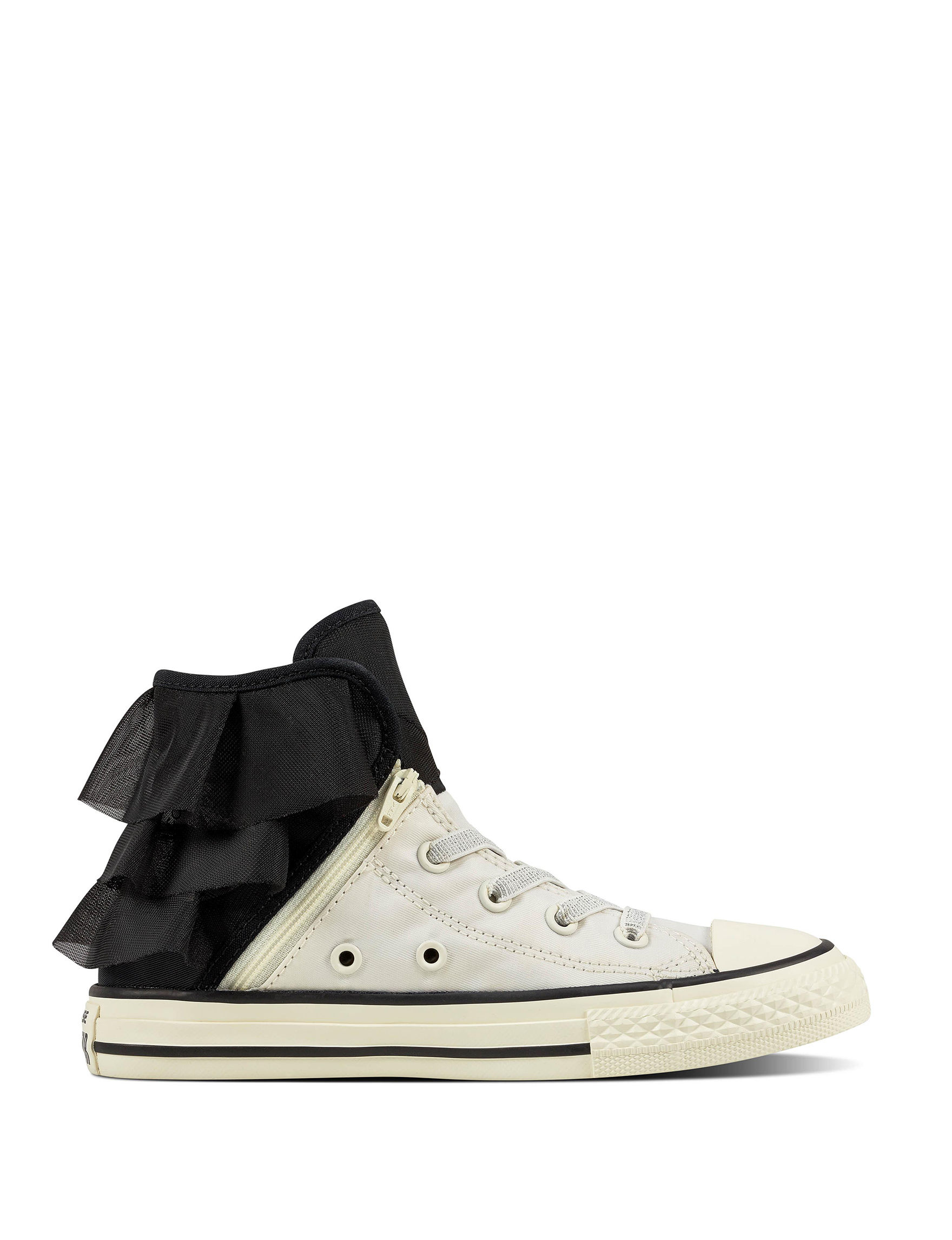 converse shoes for girls black. converse chuck taylor all star ruffle block party hi-top shoes - girls 11-4 for black n