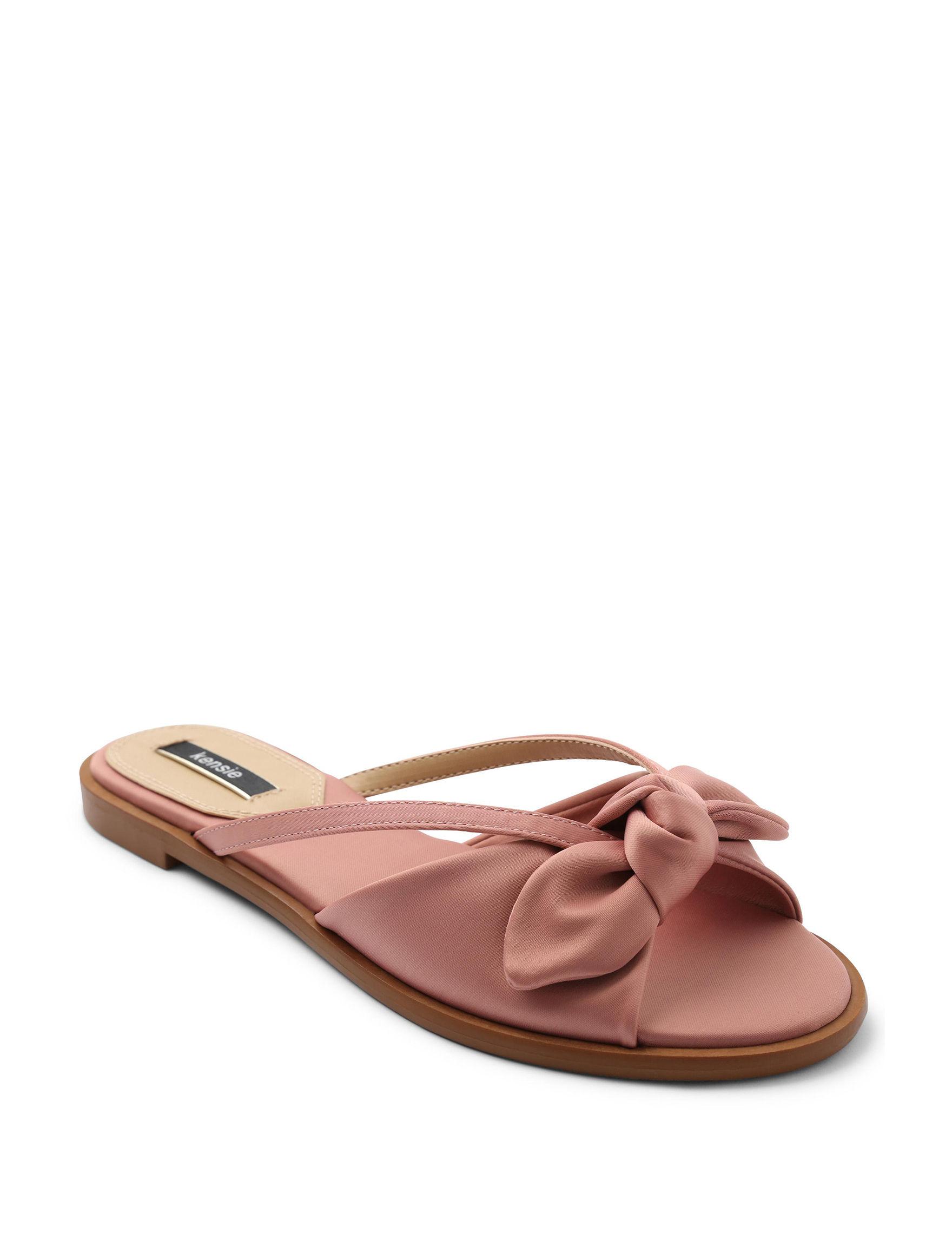 Kensie Blush Flat Sandals