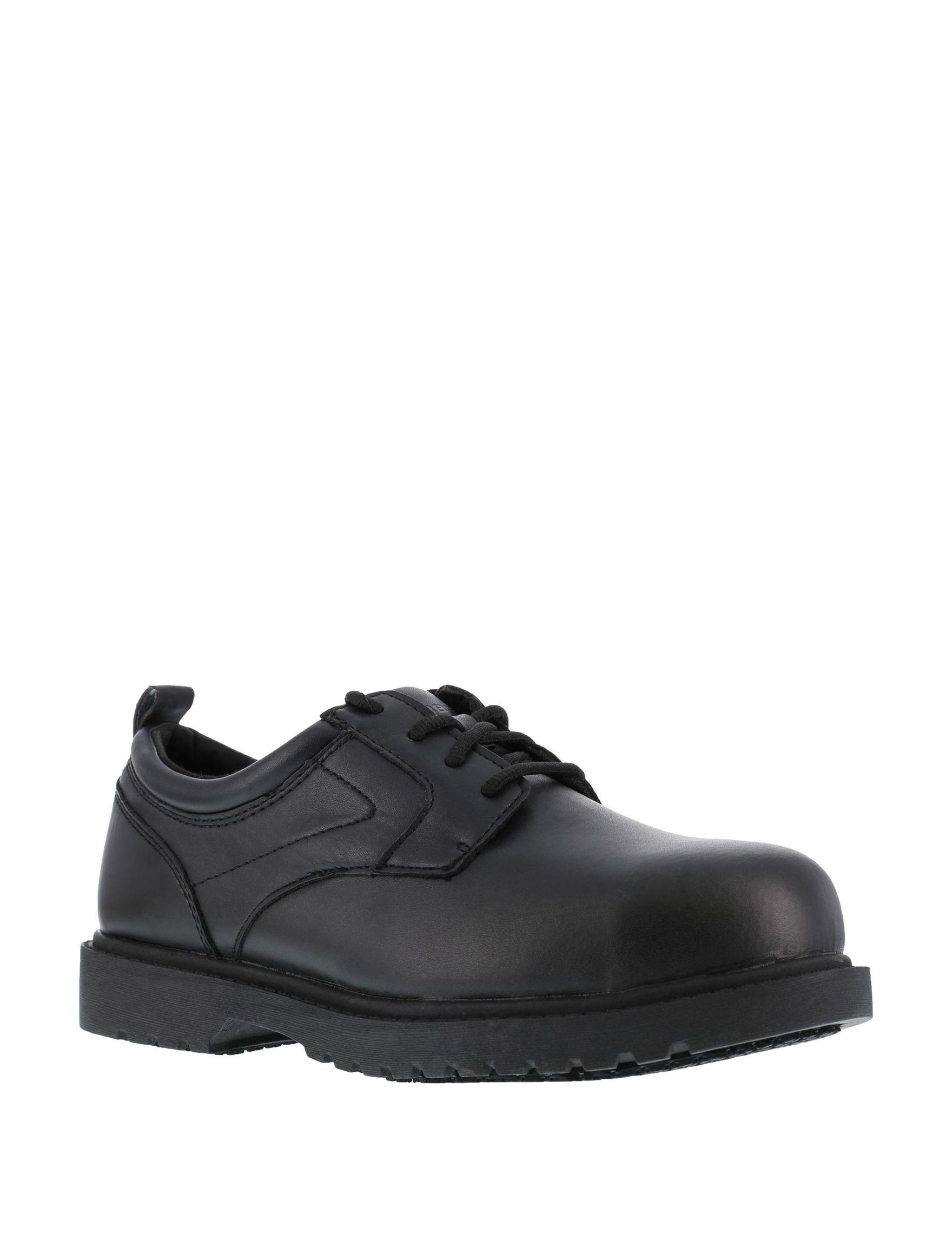 Grabbers Black Slip Resistant Steel Toe
