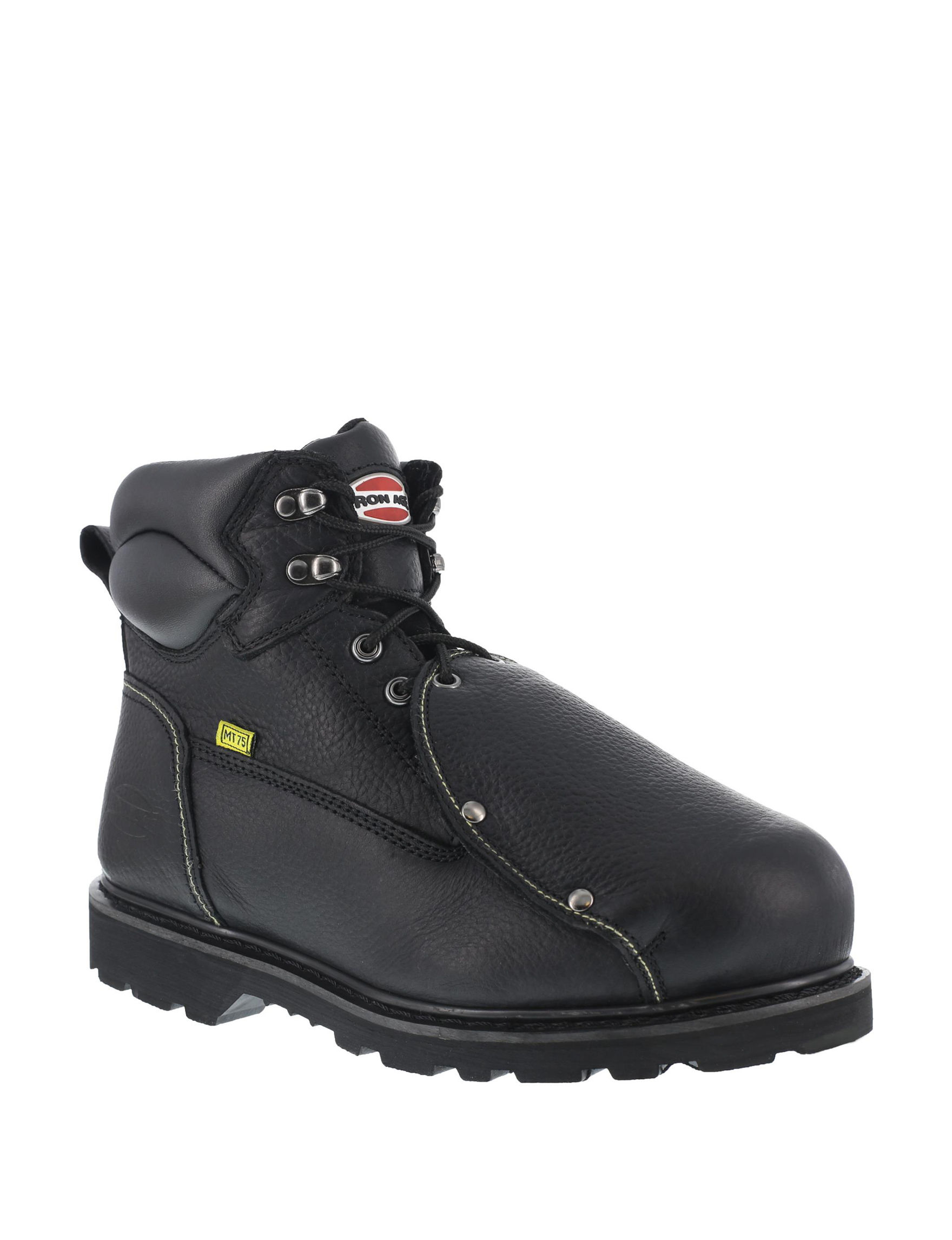 Iron Age Black Slip Resistant Steel Toe