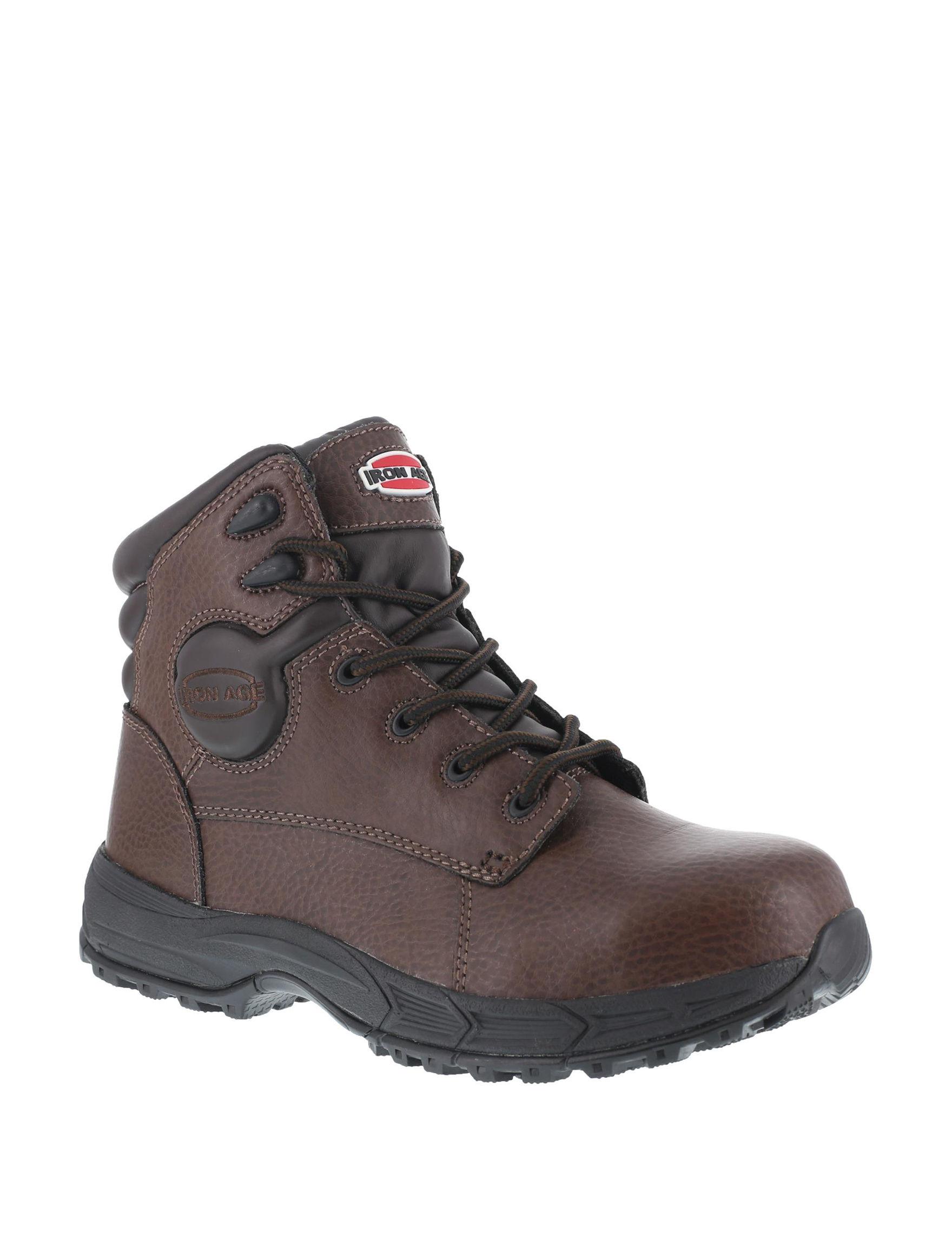 Iron Age Brown Slip Resistant Steel Toe