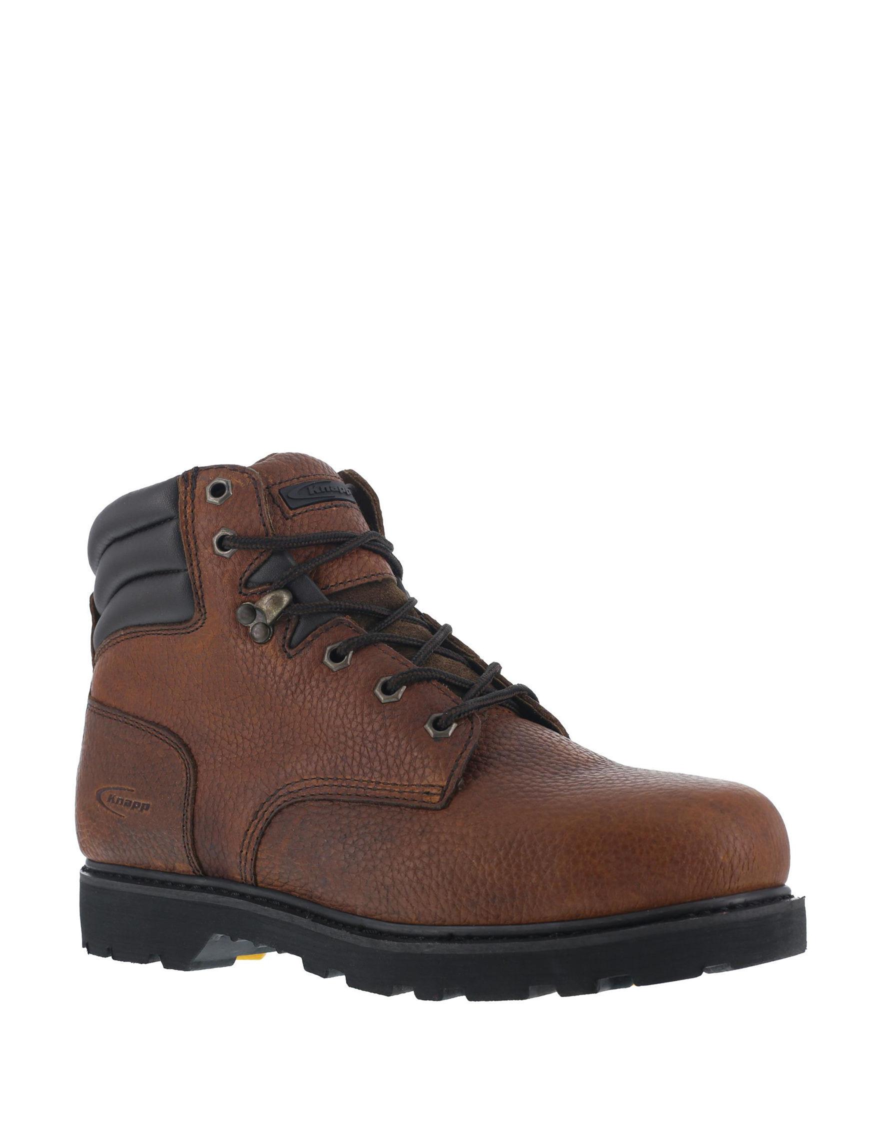 Knapp Brown Slip Resistant Steel Toe
