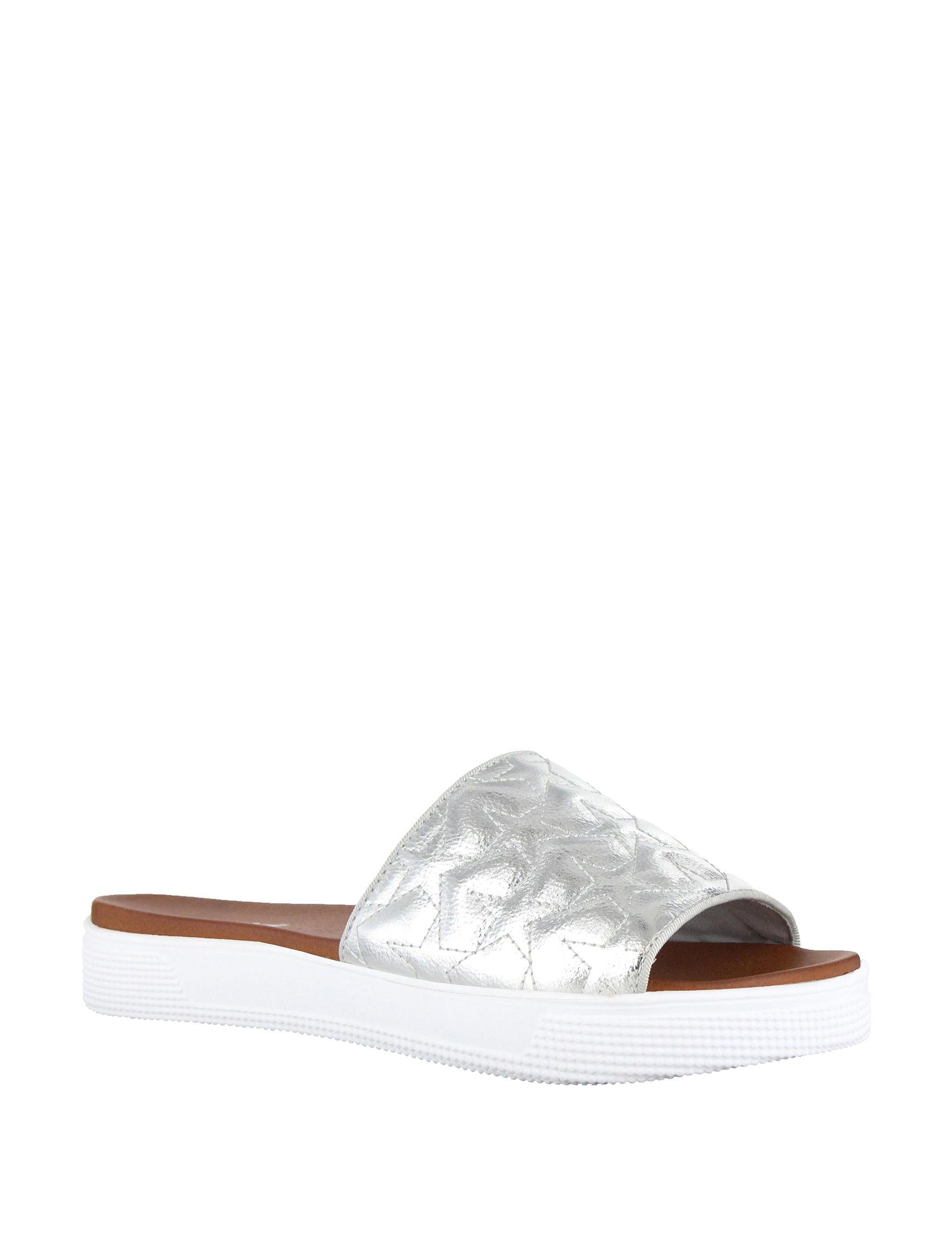 MIA Silver Sport Sandals