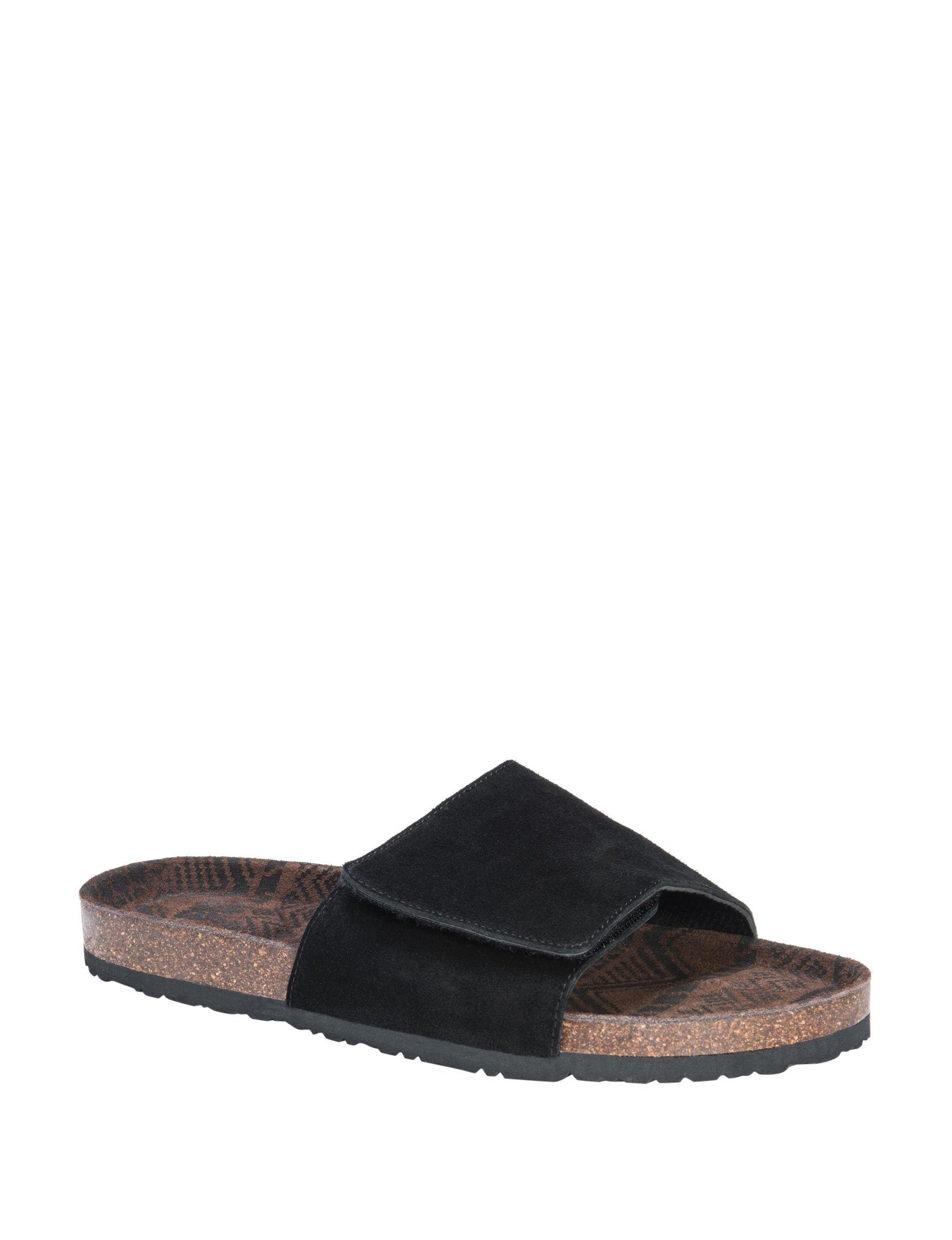 Muk Luks Black Slipper Sandals