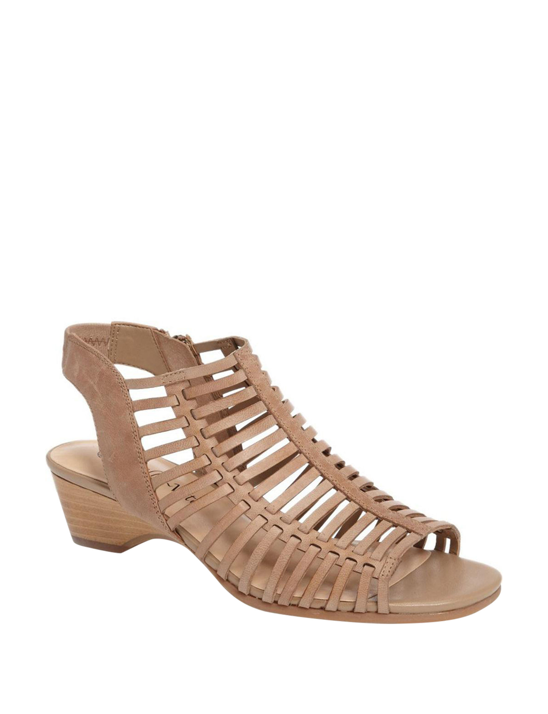 Bella Vita Brown Wedge Sandals