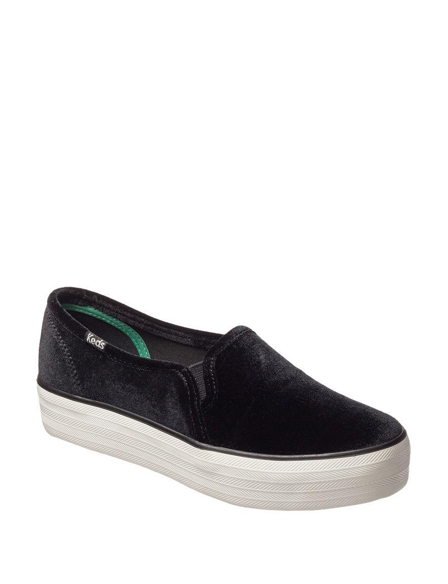 2352e8cc7af Keds Triple Decker Platform Velvet Slip-on Sneakers