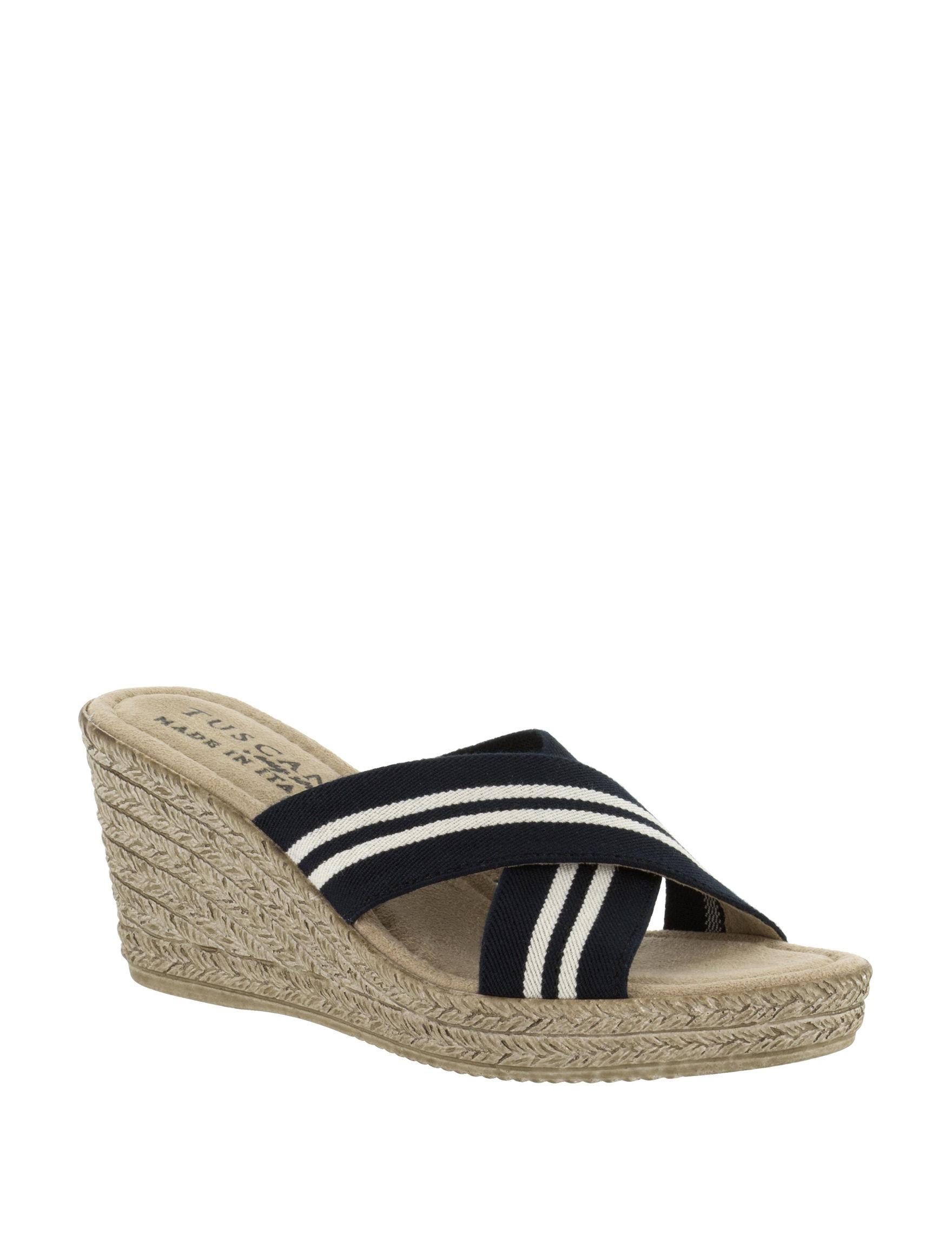 Easy Street Grey Wedge Sandals