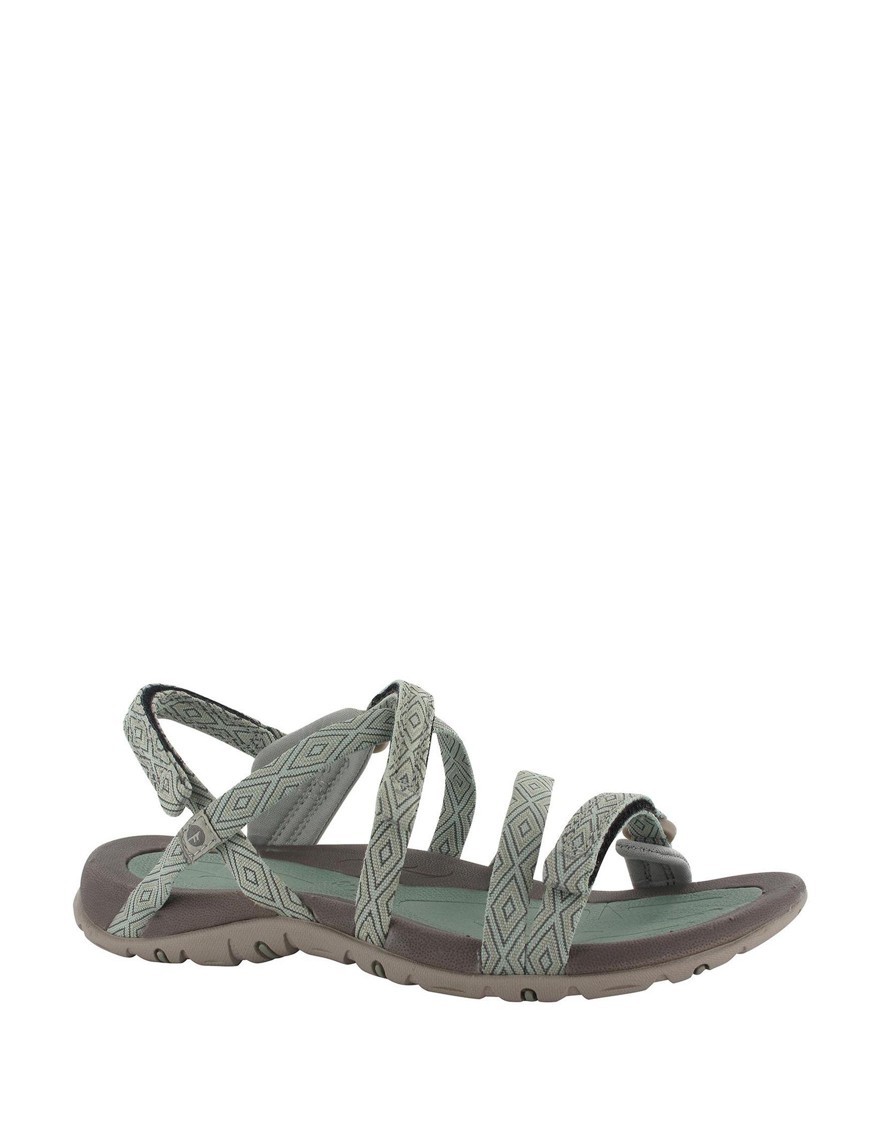 Hi-Tec Grey Flat Sandals Sport Sandals