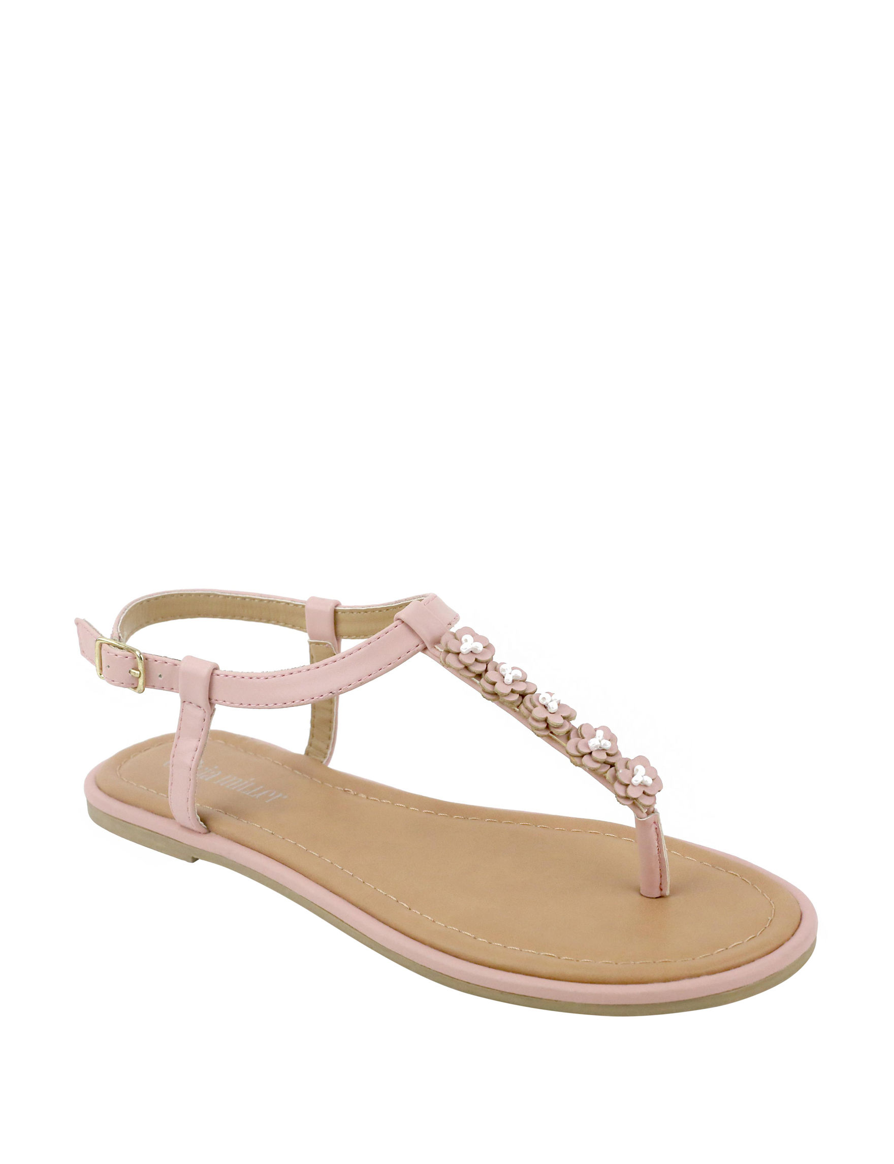 Olivia Miller Pink Flat Sandals