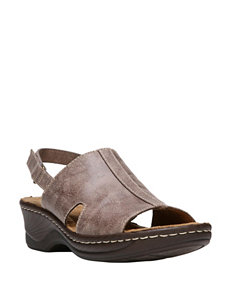 Natural Soul Taupe Wedge Sandals