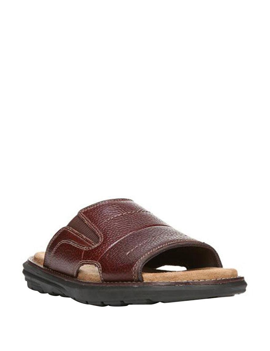 Dr. Scholl's Brown Slide Sandals