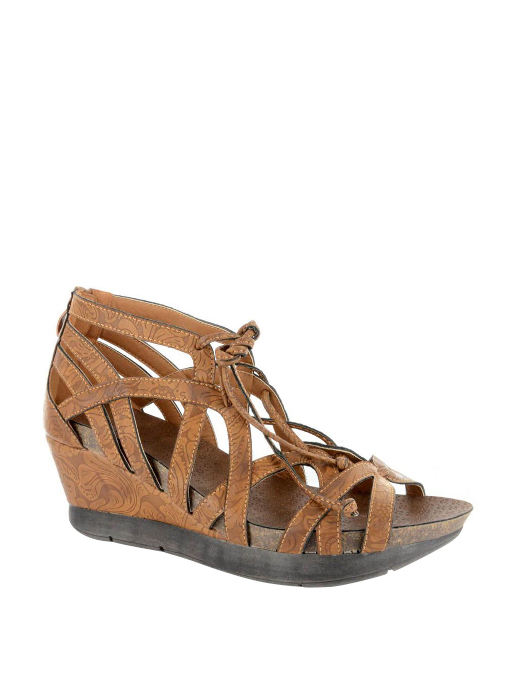 Corkys Brown Wedge Sandals