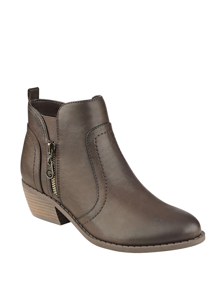 G by Guess Dark Brown Ankle Boots & Booties